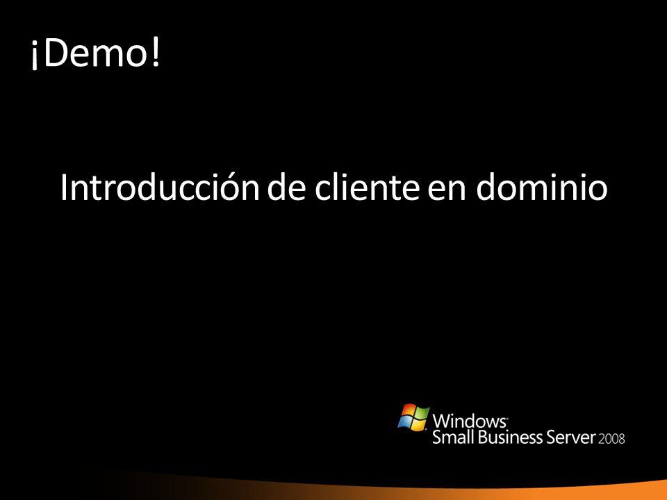 ¡Demo! Introducción de cliente en dominio