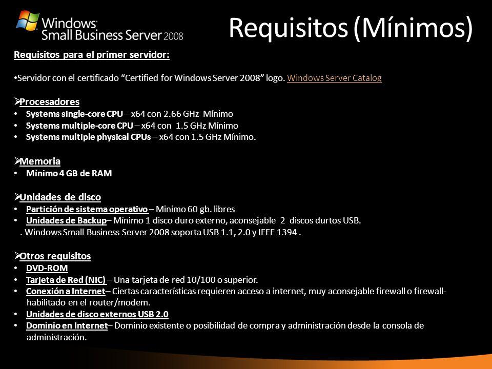 Requisitos (Mínimos) the Internet Address Management Wizard to purchase a new one. Requisitos para el primer servidor: Servidor con el certificado Cer