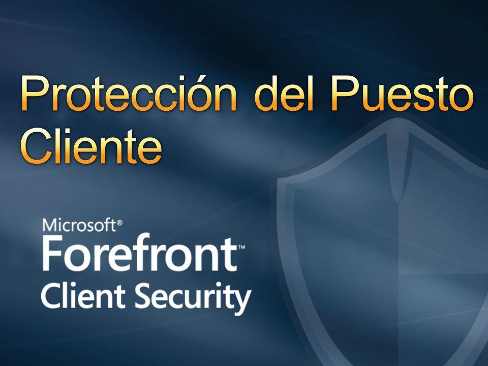 Protección unificada contra malware para puestos, portátiles, y SO servidor de fácil gestión y control 5 Confiable Eficiente Control