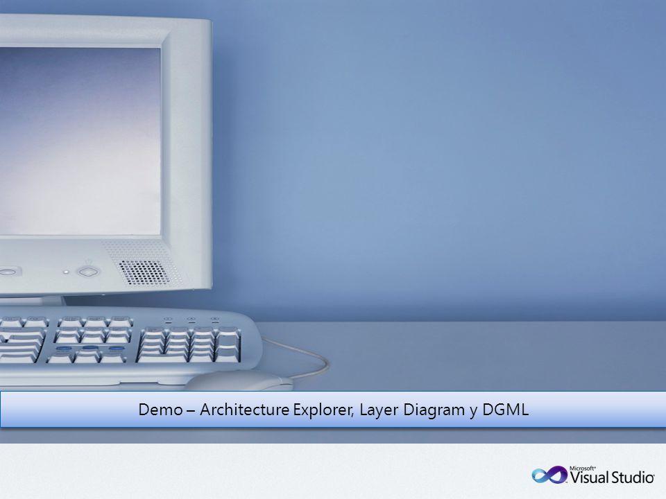 Demo – Architecture Explorer, Layer Diagram y DGML