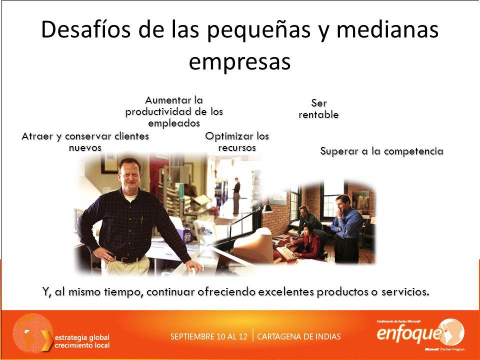 Desafíos de las pequeñas y medianas empresas Y, al mismo tiempo, continuar ofreciendo excelentes productos o servicios. Superar a la competencia Aumen