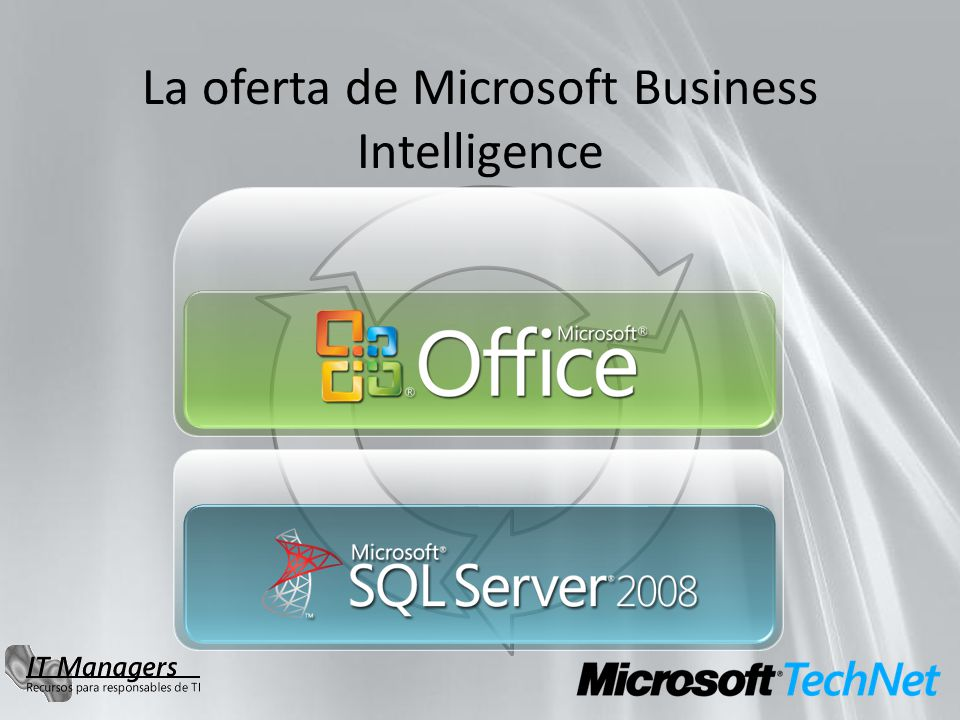 La oferta de Microsoft Business Intelligence