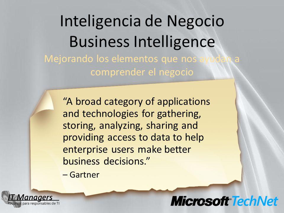 La necesidad de disponer de más y mejor visibilidad de la información afecta a toda la Organización