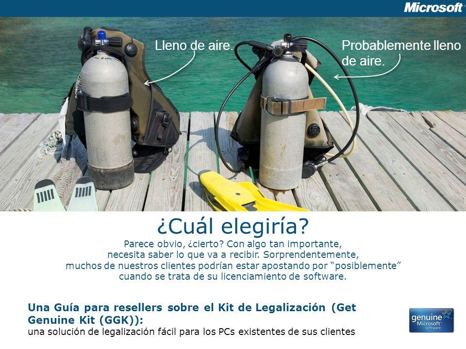 Una Guía para resellers sobre el Kit de Legalización (Get Genuine Kit (GGK)): una solución de legalización fácil para los PCs existentes de sus client
