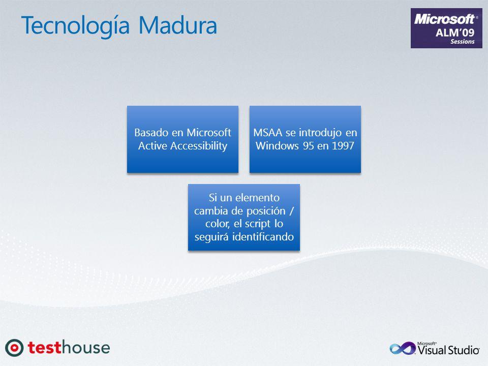 Basado en Microsoft Active Accessibility MSAA se introdujo en Windows 95 en 1997 Si un elemento cambia de posición / color, el script lo seguirá ident