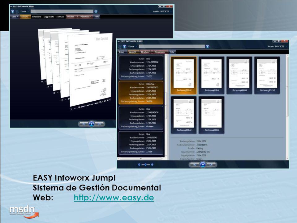 EASY Infoworx Jump! Sistema de Gestión Documental Web:http://www.easy.dehttp://www.easy.de