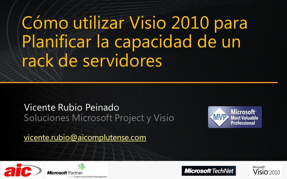 Cómo utilizar Visio 2010 para Planificar la capacidad de un rack de servidores