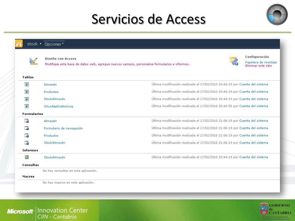 Servicios de Access