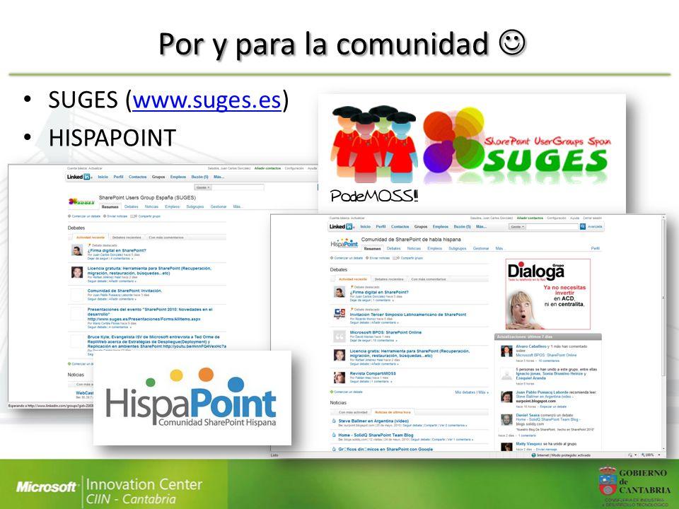 Por y para la comunidad Por y para la comunidad SUGES (www.suges.es)www.suges.es HISPAPOINT