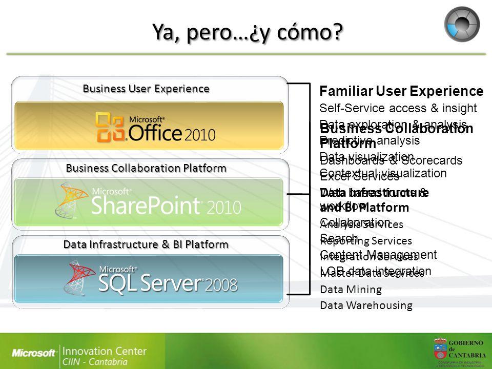 Chart WebPart Basada en los.NET Chart Controls Permite crear rápidamente gráficos de datos a partir de: – Otro elemento web – Una lista de SharePoint – El catálogo de datos profesionales – Los servicios de Excel