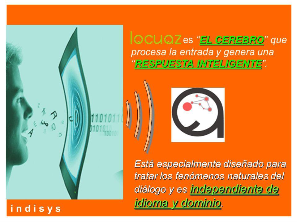 EL CEREBRO RESPUESTA INTELIGENTE es EL CEREBRO que procesa la entrada y genera unaRESPUESTA INTELIGENTE. independiente de idioma y dominio Está especi