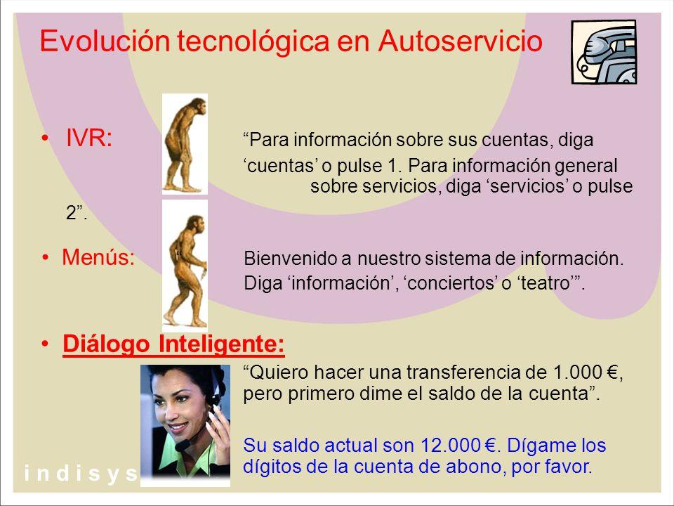 IVR :Para información sobre sus cuentas, diga cuentas o pulse 1. Para información general sobre servicios, diga servicios o pulse 2. Diálogo Inteligen