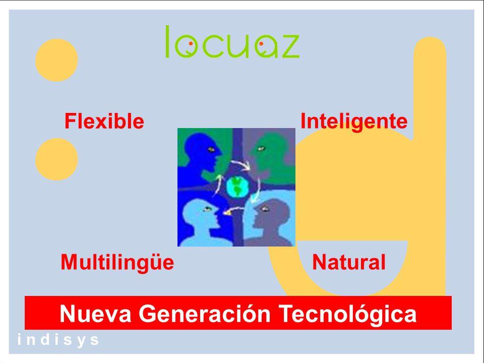 Flexible Inteligente NaturalMultilingüe Nueva Generación Tecnológica i n d i s y s