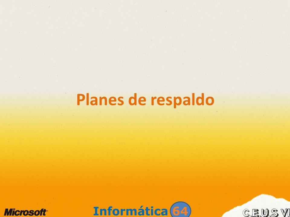 Planes de respaldo