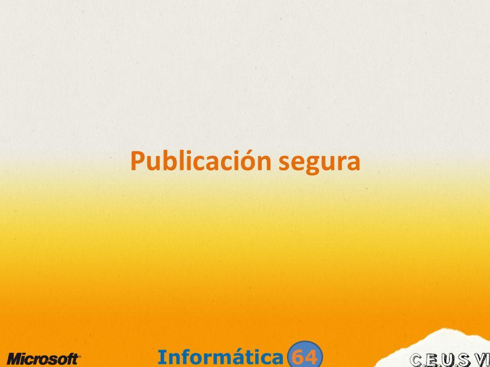 Publicación segura