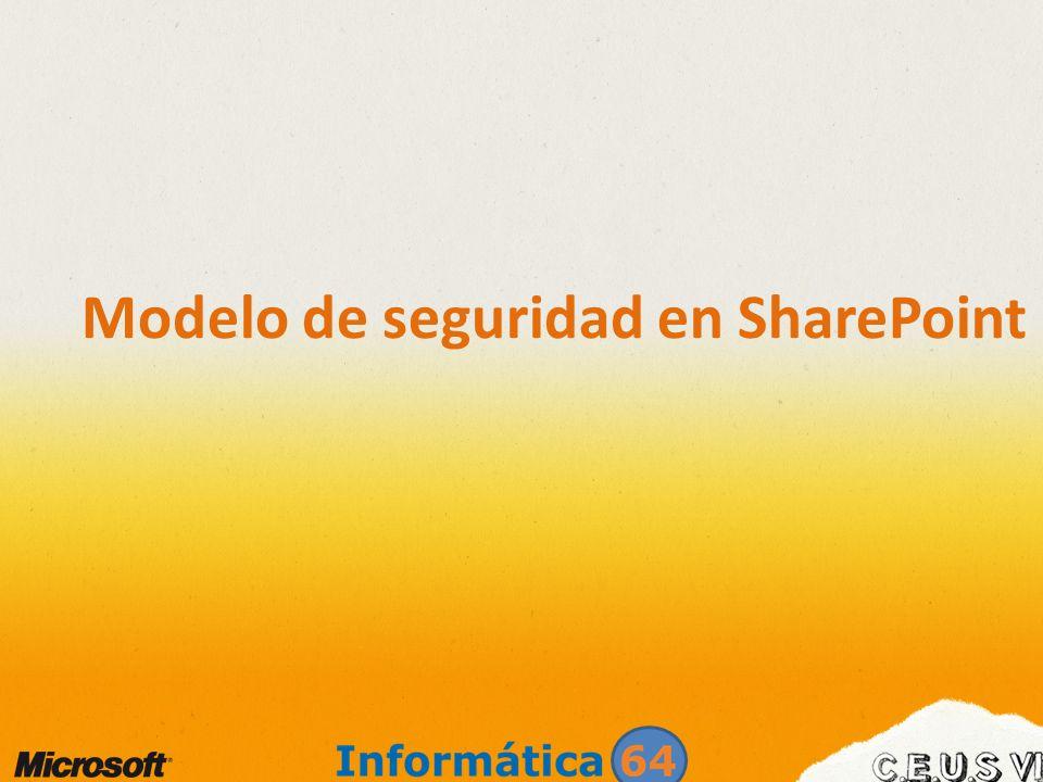 Cuentas administradas Se incorpora la gestión de cuentas administradas con cambios de contraseñas automático Administración más coherente de cuentas utilizadas en los grupos de aplicaciones o servicios de SharePoint