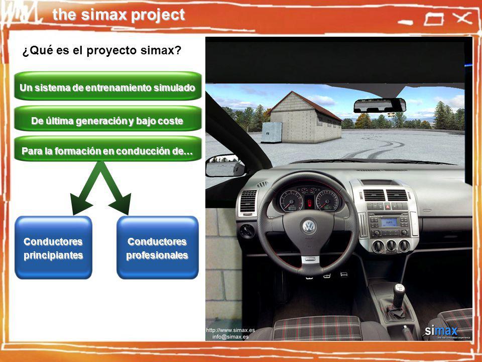 the simax project Conducción en cualquier tipo de entorno - Carretera regional, nacional, vías rápidas, entornos urbanos, circuitos, … -