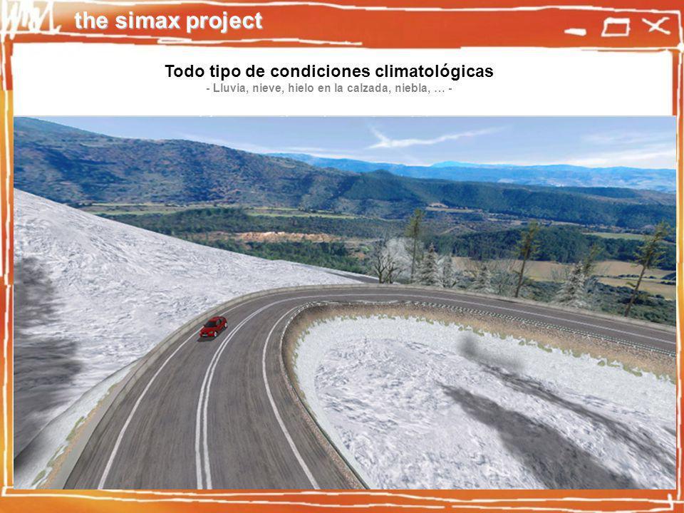 the simax project Todo tipo de condiciones climatológicas - Lluvia, nieve, hielo en la calzada, niebla, … -