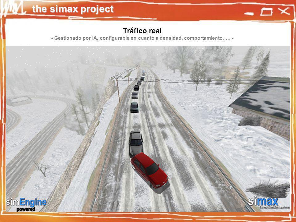 the simax project Tráfico real - Gestionado por IA, configurable en cuanto a densidad, comportamiento, … -