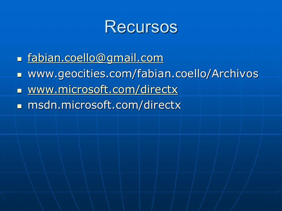 Recursos fabian.coello@gmail.com fabian.coello@gmail.com fabian.coello@gmail.com www.geocities.com/fabian.coello/Archivos www.geocities.com/fabian.coe