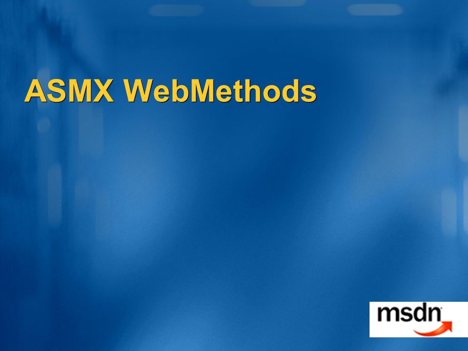 ASMX WebMethods