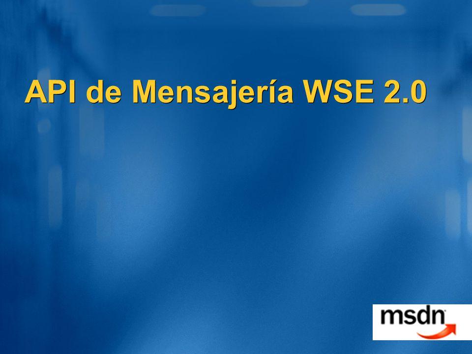 API de Mensajería WSE 2.0