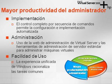 Implementación El control completo por secuencia de comandos permite la configuración e implementación automatizada Administración Uso de la web de ad