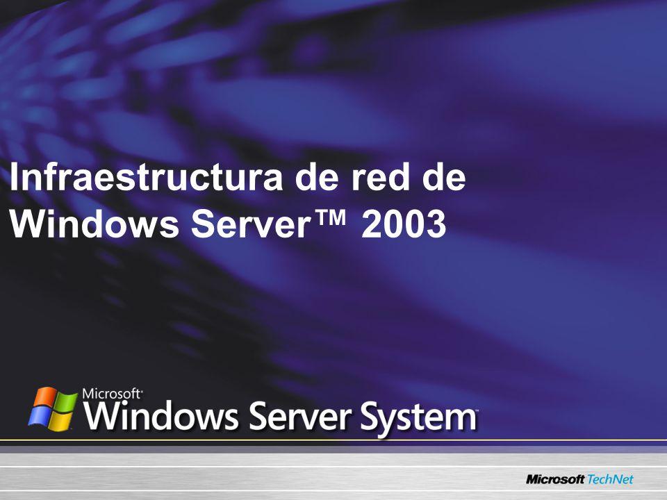 Infraestructura de red de Windows Server 2003