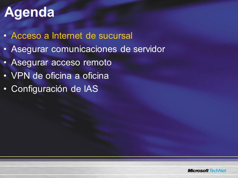 VPN de oficina a oficina Windows Server 2003 L2TP Windows Server 2003 soporta IPSec NAT-T, lo que significa que puede tener sus servidores VPN detrás del firewall que proporciona NAT VPN de Windows Server 2003 Internet Firewall Windows Server 2003 también soporta el uso de claves precompartidas para autenticación (no se recomienda para uso de producción)