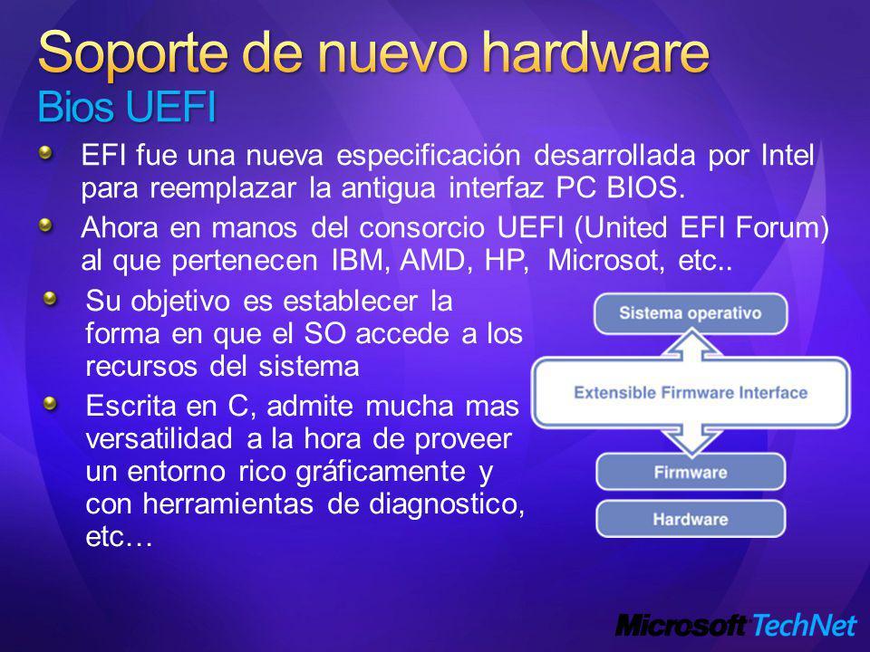 EFI fue una nueva especificación desarrollada por Intel para reemplazar la antigua interfaz PC BIOS.