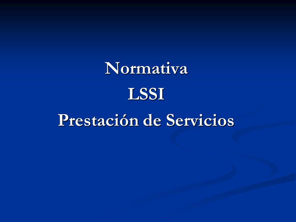 NormativaLSSI Prestación de Servicios