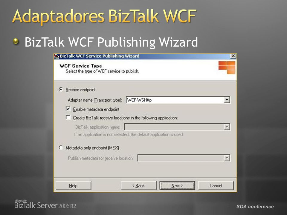 SOA conference BizTalk WCF Publishing Wizard