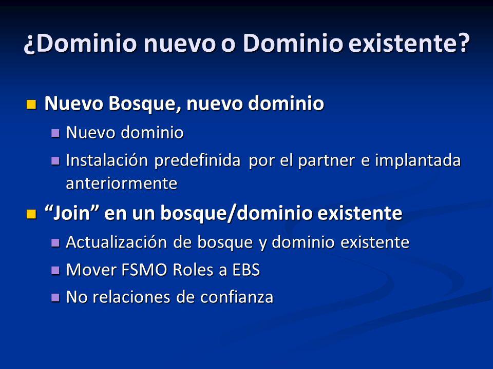 ¿Dominio nuevo o Dominio existente.