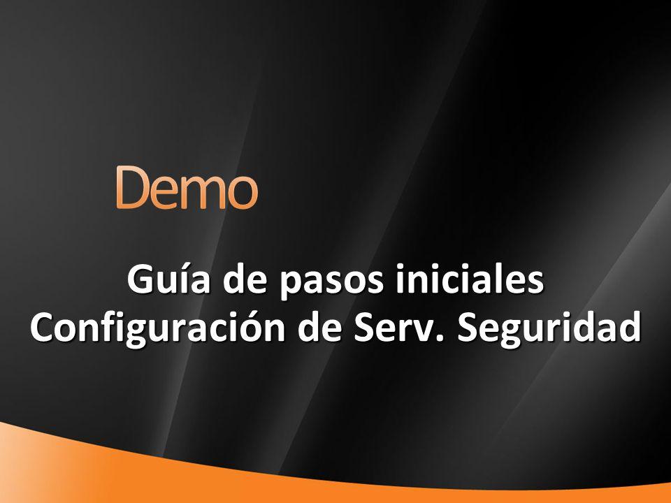 36 Guía de pasos iniciales Configuración de Serv. Seguridad