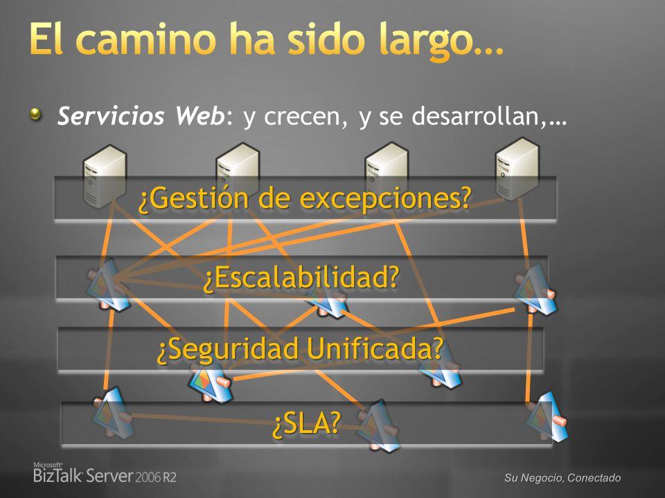 Su Negocio, Conectado Servicios Web: y crecen, y se desarrollan,… ¿Gestión de excepciones? ¿Escalabilidad?¿Escalabilidad? ¿Seguridad Unificada? ¿SLA?¿