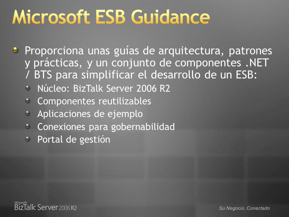 Su Negocio, Conectado Proporciona unas guías de arquitectura, patrones y prácticas, y un conjunto de componentes.NET / BTS para simplificar el desarro