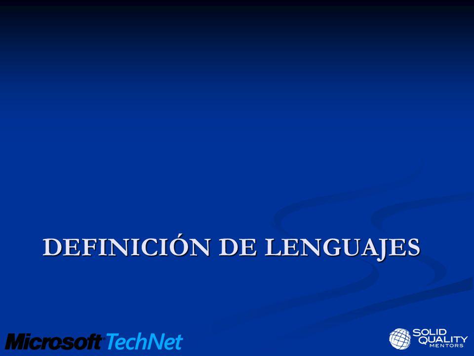 DEFINICIÓN DE LENGUAJES