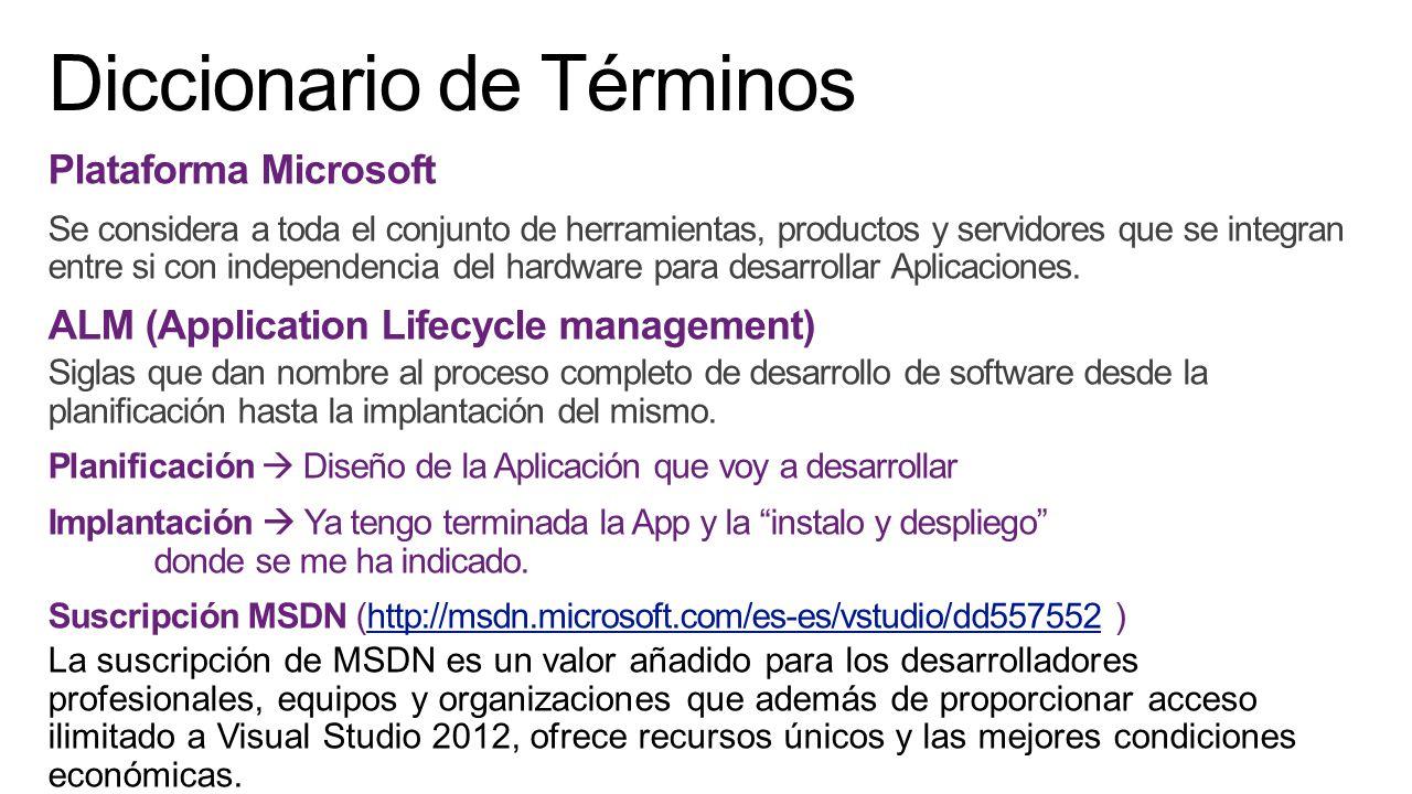 Visual Studio es una potente solución (Programa) ALM que permite a las organizaciones ofrecer un valor continuo con velocidad y calidad para desarrollar aplicaciones.