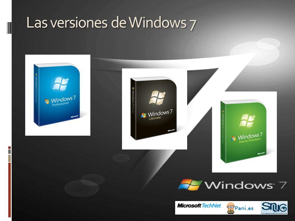 Las versiones de Windows 7 Pani.es