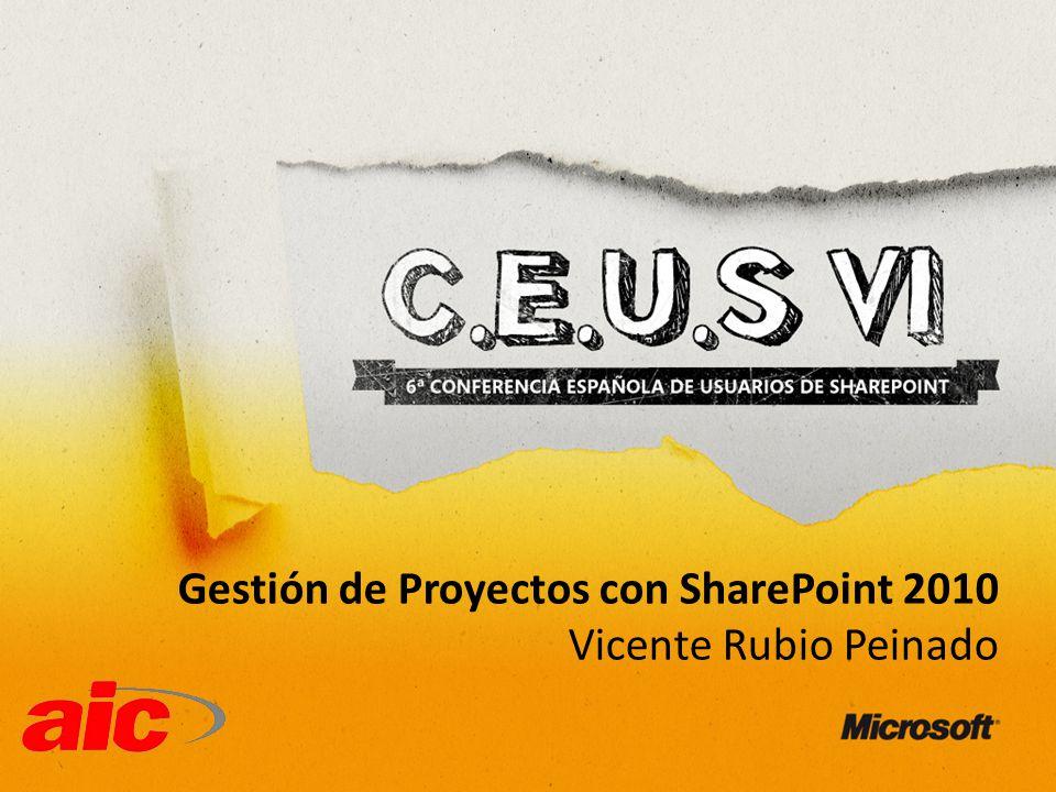 Gestión de Proyectos con SharePoint 2010 Vicente Rubio Peinado