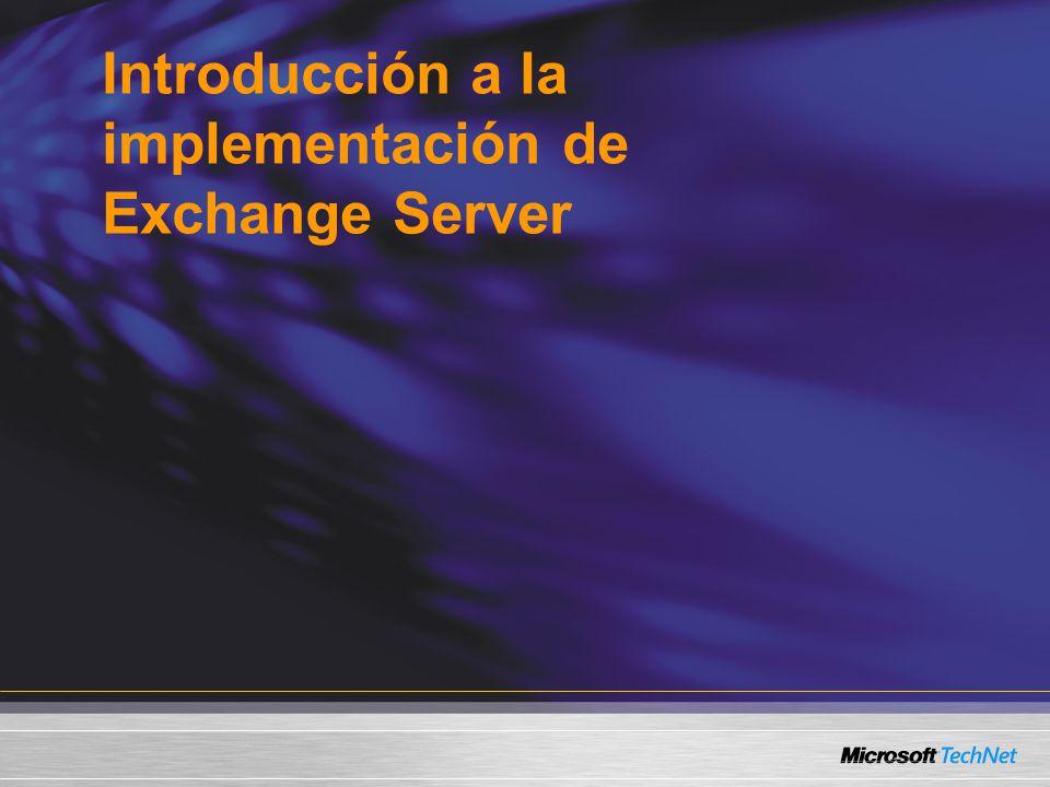 Introducción a la implementación de Exchange Server