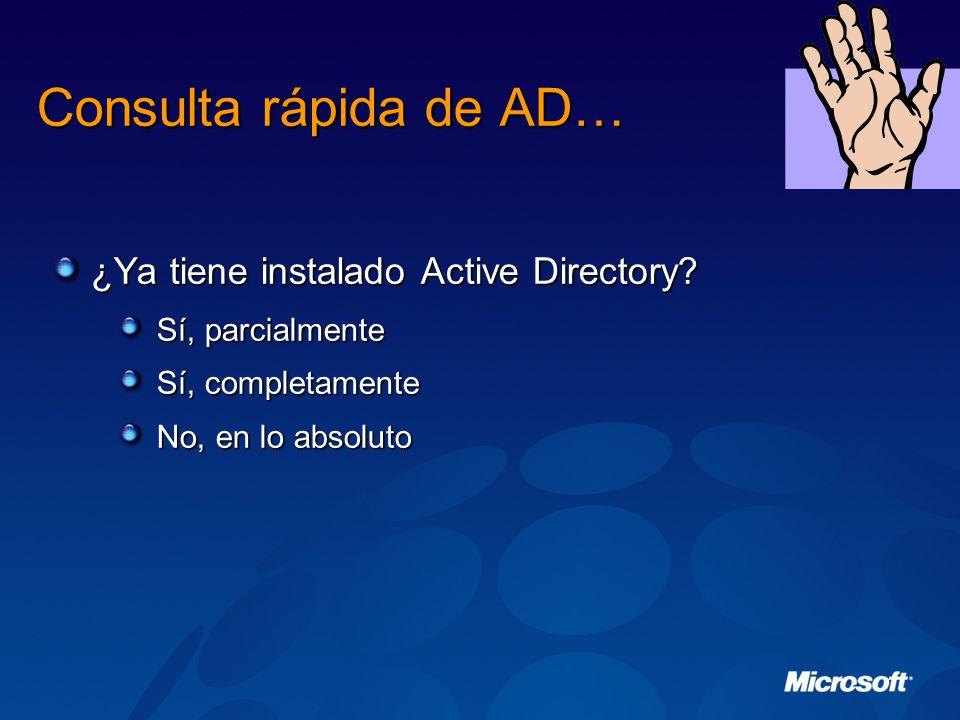 Consulta rápida de AD… ¿Ya tiene instalado Active Directory.