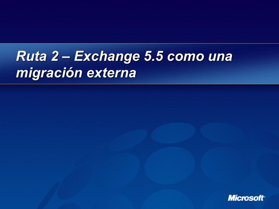 Ruta 2 – Exchange 5.5 como una migración externa
