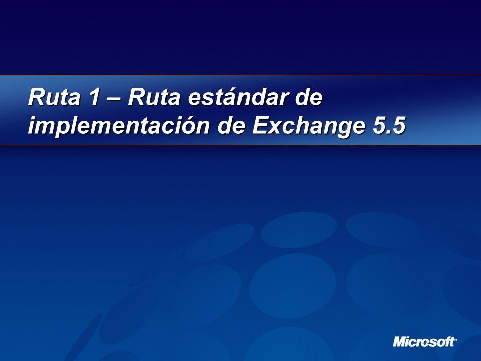 Ruta 1 – Ruta estándar de implementación de Exchange 5.5