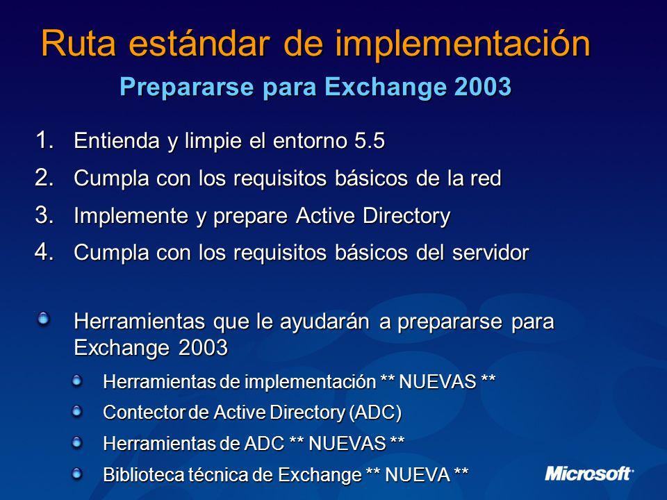 1.Entienda y limpie el entorno 5.5 2. Cumpla con los requisitos básicos de la red 3.