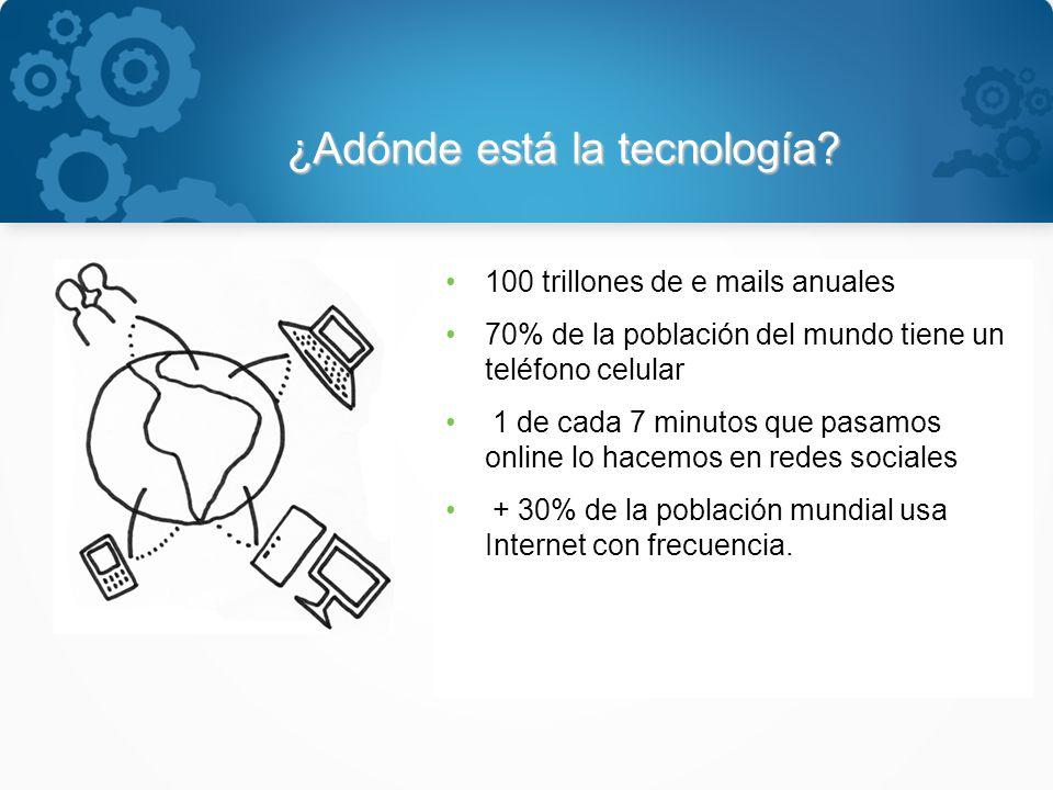 ¿Adónde está la tecnología.