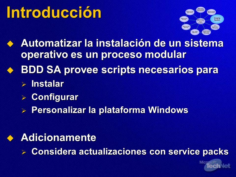 Introducción Automatizar la instalación de un sistema operativo es un proceso modular Automatizar la instalación de un sistema operativo es un proceso