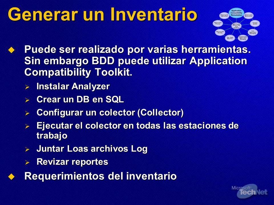 Generar un Inventario Puede ser realizado por varias herramientas.