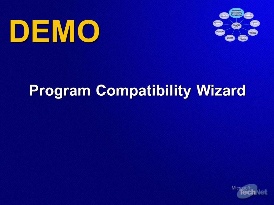 DEMO Program Compatibility Wizard