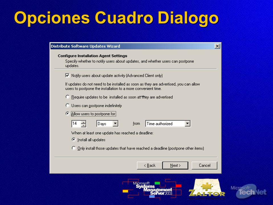 Opciones Cuadro Dialogo